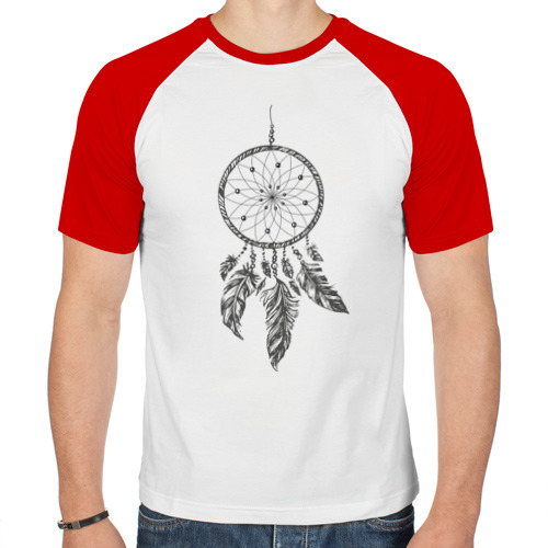 Мужская футболка реглан  Фото 01, Ловец снов (серый)