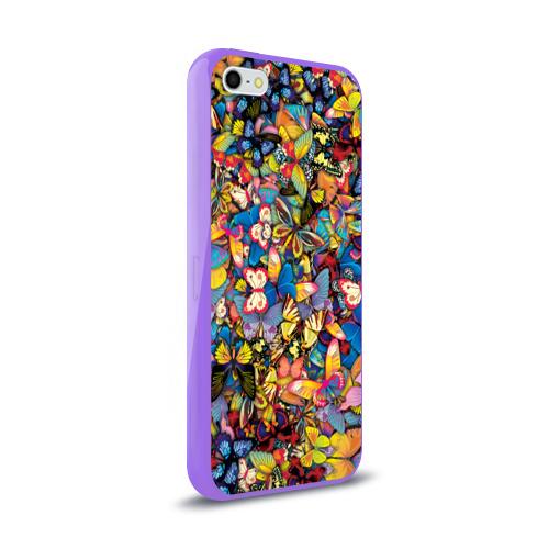 Чехол для iPhone 5/5S глянцевый Бабочки Фото 01