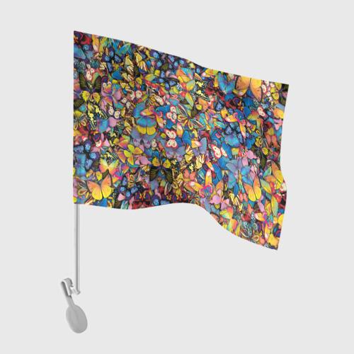Флаг для автомобиля Бабочки Фото 01