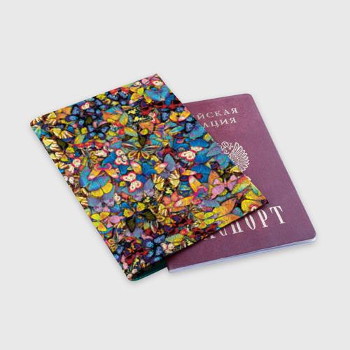 Обложка для паспорта матовая кожа Бабочки Фото 01
