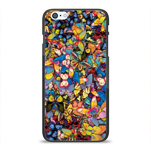 Чехол для Apple iPhone 6Plus/6SPlus силиконовый глянцевый Бабочки Фото 01