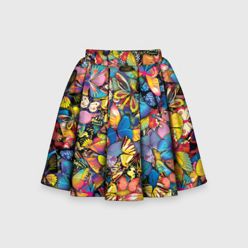 Детская юбка-солнце 3D Бабочки Фото 01