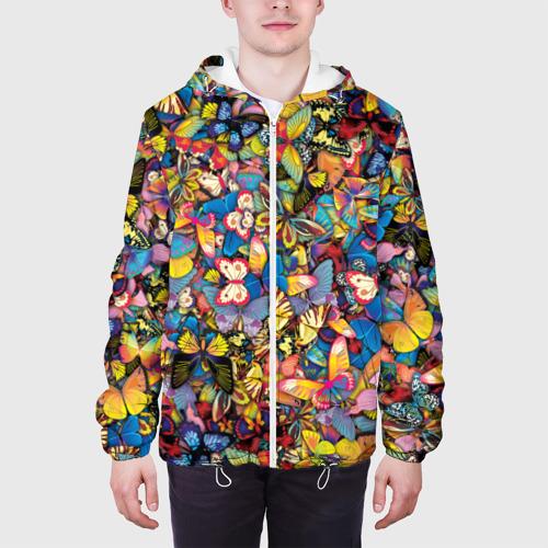Мужская куртка 3D Бабочки Фото 01