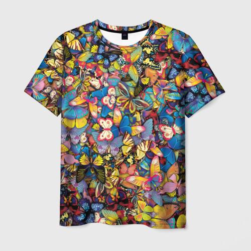 Мужская футболка 3D Бабочки Фото 01