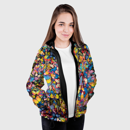 Женская куртка 3D Бабочки Фото 01