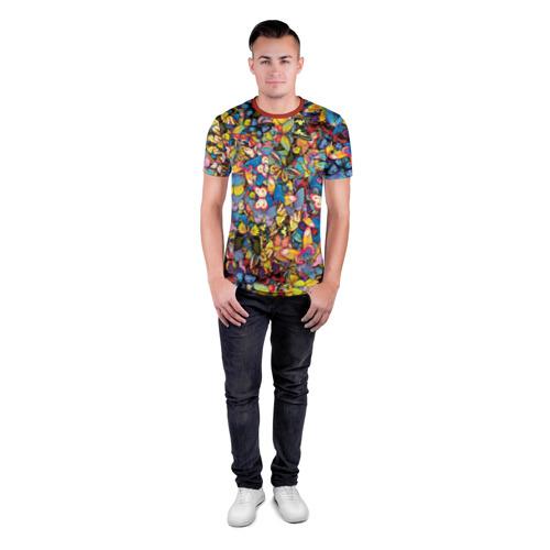 Мужская футболка 3D спортивная Бабочки Фото 01