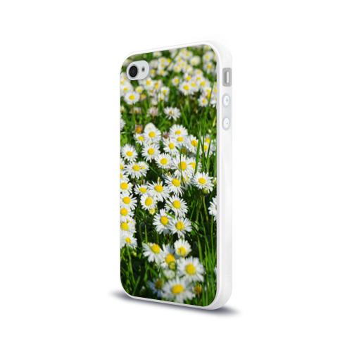 Чехол для Apple iPhone 4/4S силиконовый глянцевый  Фото 03, Ромашки 2