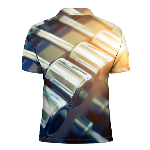 Мужская рубашка поло 3D  Фото 02, Гантели