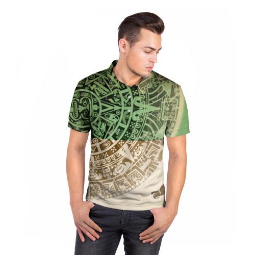 Мужская рубашка поло 3D  Фото 05, Народ Майя 2