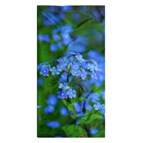 Бандана-труба 3D  Фото 07, Синие цветы
