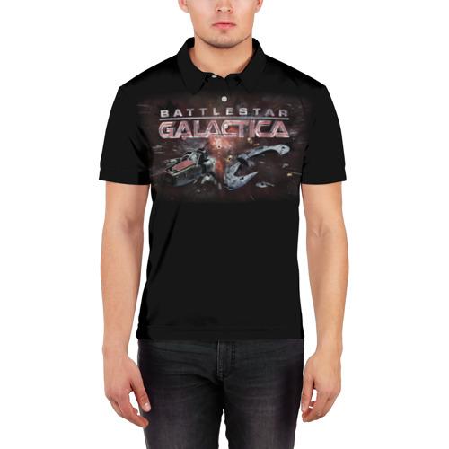 Мужская рубашка поло 3D  Фото 03, Battlestar Galactica