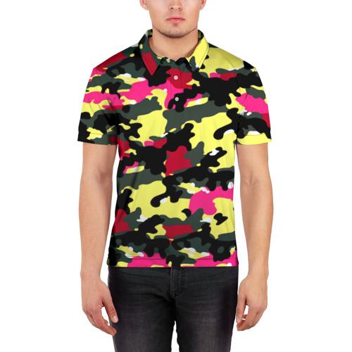 Мужская рубашка поло 3D  Фото 03, Камуфляж