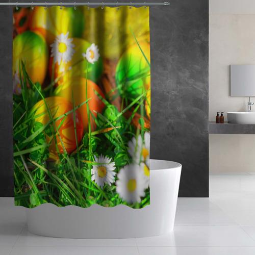 Штора 3D для ванной  Фото 03, Пасхальные яйца