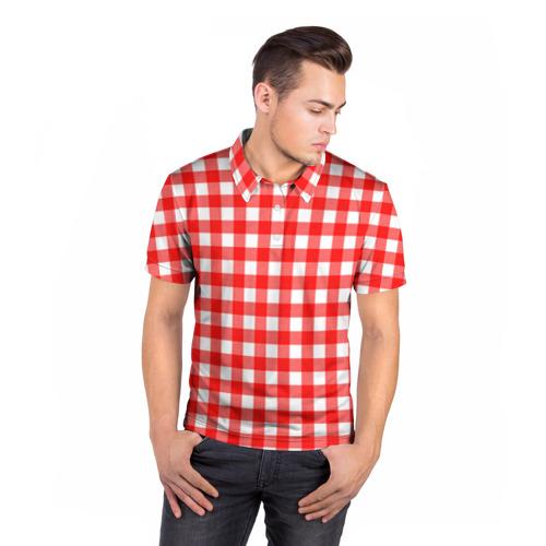 Мужская рубашка поло 3D  Фото 05, Текстура
