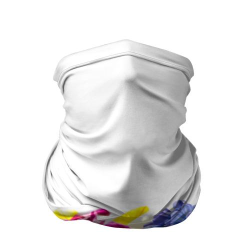 Бандана-труба 3D  Фото 01, Среди цветов