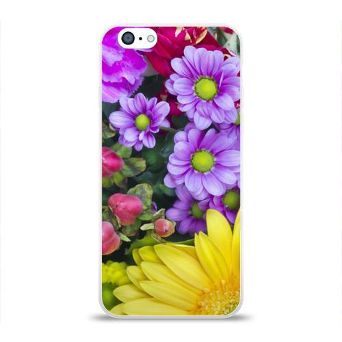 Чехол для Apple iPhone 6 силиконовый глянцевый  Фото 01, Роскошные цветы