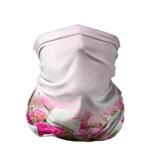 Бандана-труба 3D  Фото 01, Нежные розы