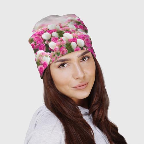 Шапка 3D  Фото 02, Нежные розы