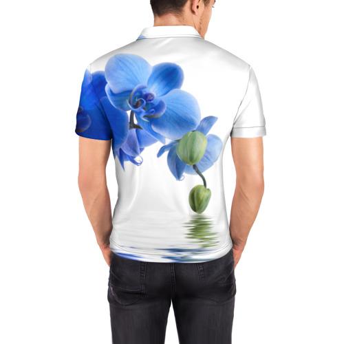 Мужская рубашка поло 3D  Фото 04, Веточка орхидеи