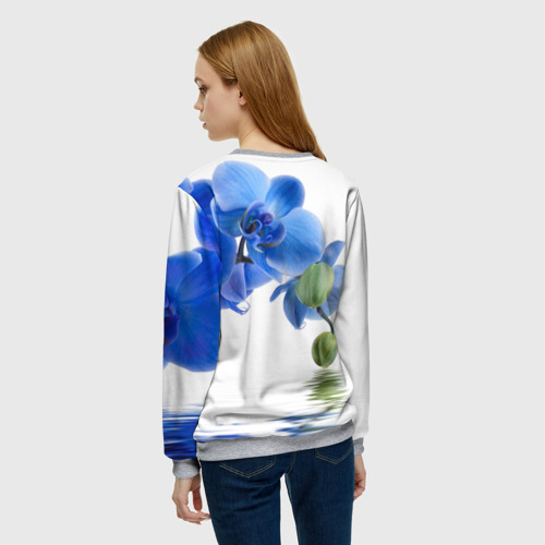 Женский свитшот 3D Веточка орхидеи Фото 01