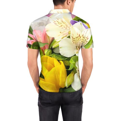 Мужская рубашка поло 3D  Фото 04, Красивый букет