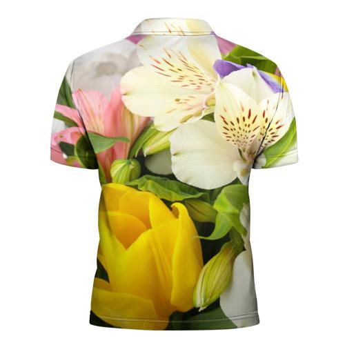 Мужская рубашка поло 3D  Фото 02, Красивый букет