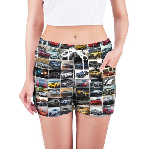 Женские шорты 3D  Фото 03, Крутые тачки (1)