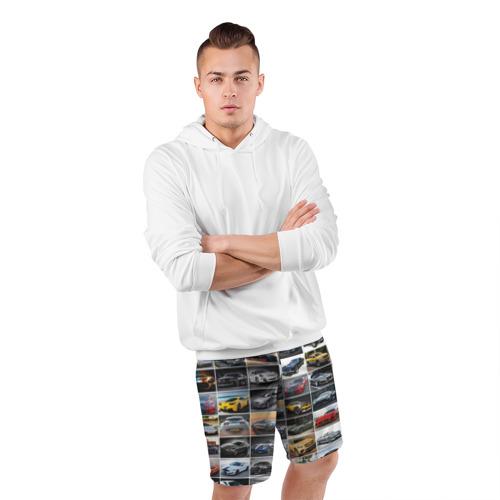 Мужские шорты 3D спортивные  Фото 05, Крутые тачки (1)