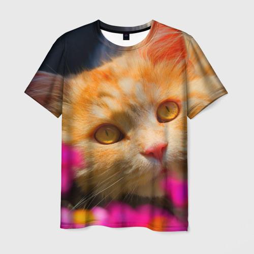 Мужская футболка 3D  Фото 03, Кошечка
