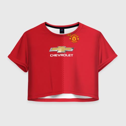 Женская футболка Cropp-top Манчестер Юнайтед форма