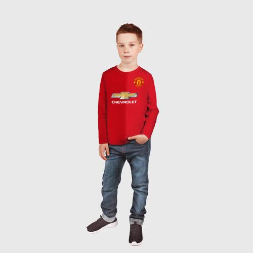 Детский лонгслив 3D  Фото 05, Манчестер Юнайтед форма