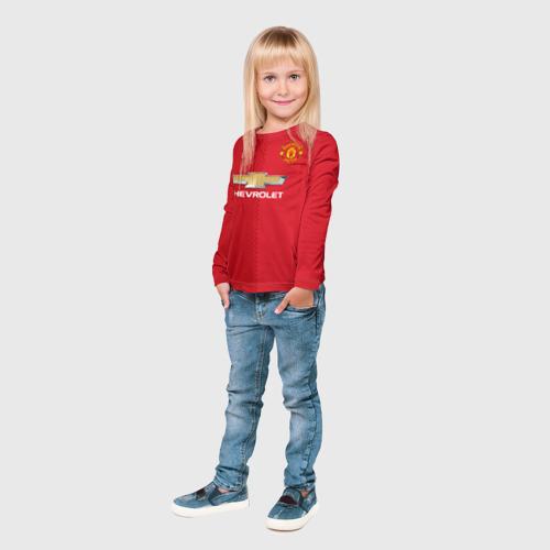 Детский лонгслив 3D  Фото 04, Манчестер Юнайтед форма