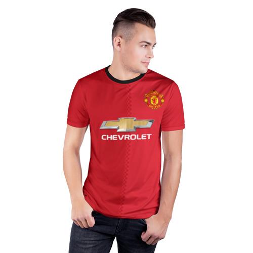 Мужская футболка 3D спортивная Манчестер Юнайтед форма Фото 01