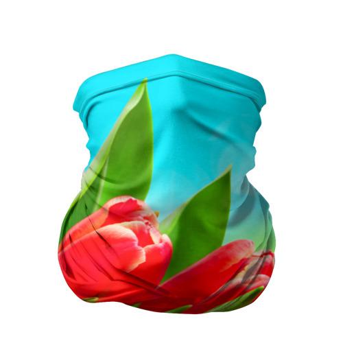 Бандана-труба 3D  Фото 01, Тюльпаны