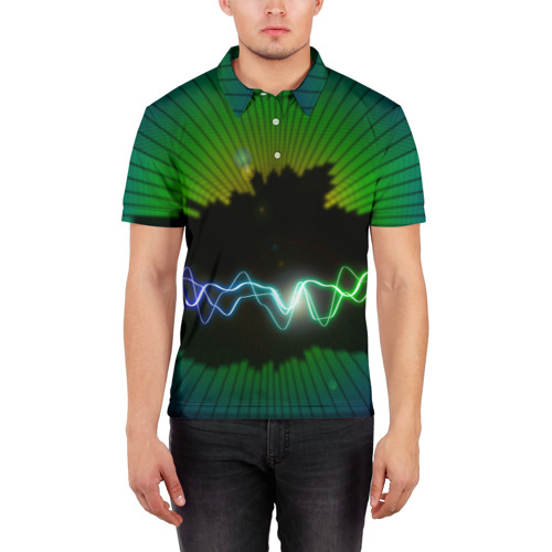 Мужская рубашка поло 3D  Фото 03, Ритм
