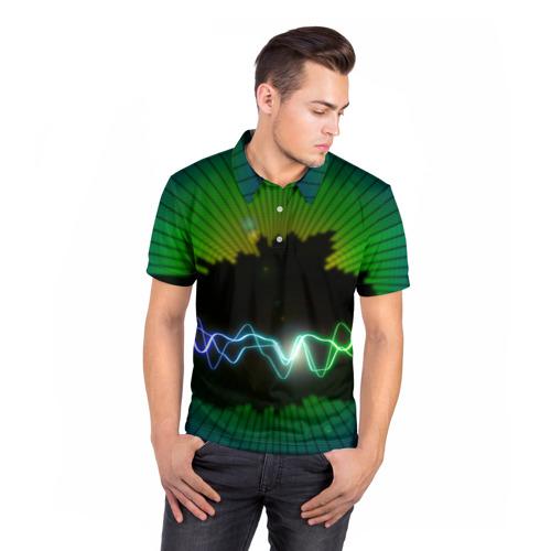 Мужская рубашка поло 3D  Фото 05, Ритм