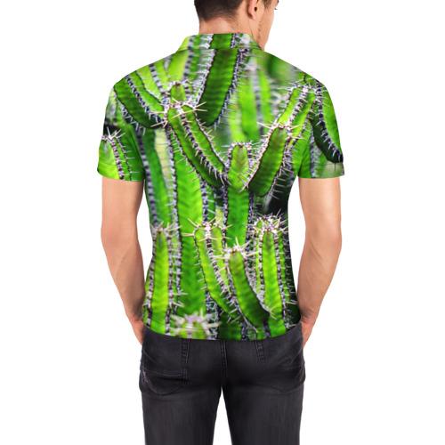Мужская рубашка поло 3D  Фото 04, Кактус