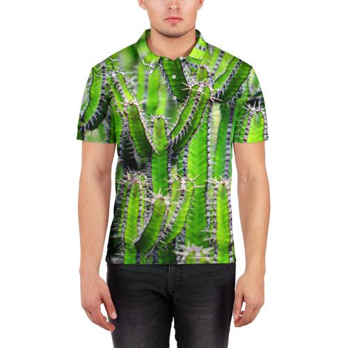 Мужская рубашка поло 3D  Фото 03, Кактус