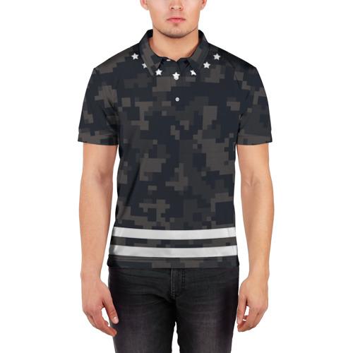 Мужская рубашка поло 3D  Фото 03, Camouflage