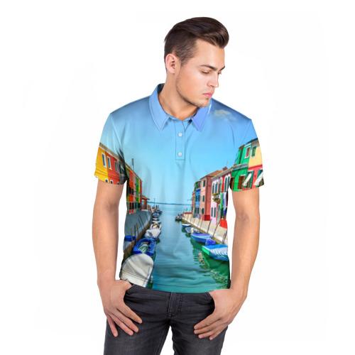 Мужская рубашка поло 3D  Фото 05, Венеция