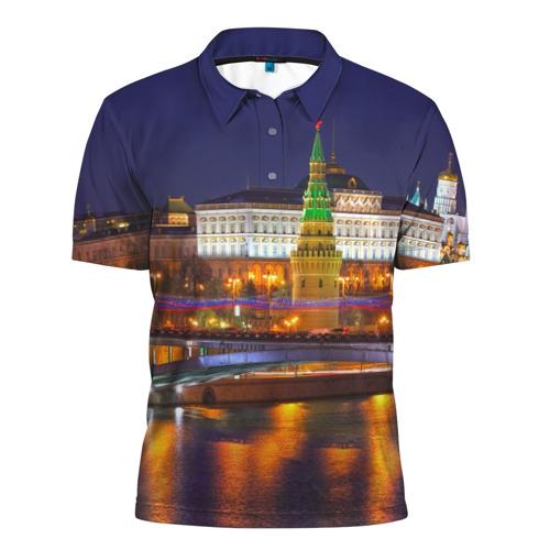 Мужская рубашка поло 3D Москва (Кремль)