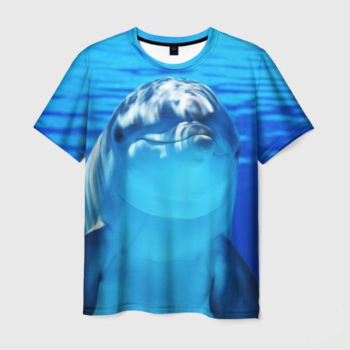 Мужская футболка 3D Дельфин Фото 01