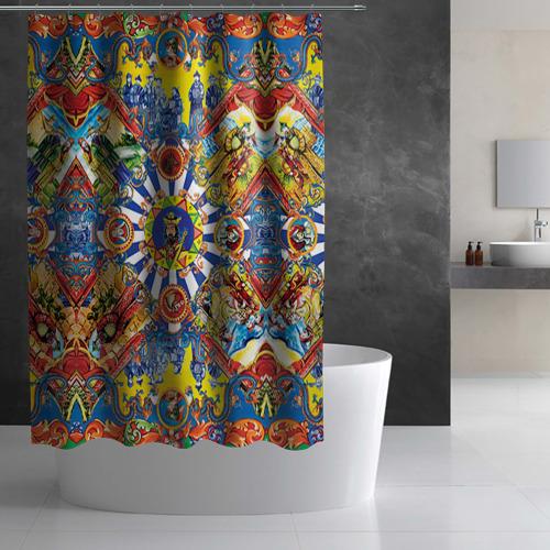 Штора 3D для ванной Сицилия Фото 01