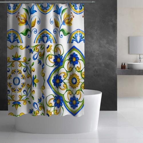 Штора 3D для ванной Майолика Фото 01