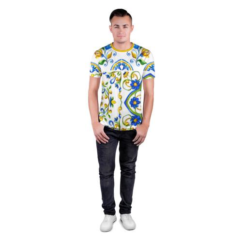 Мужская футболка 3D спортивная  Фото 04, Майолика