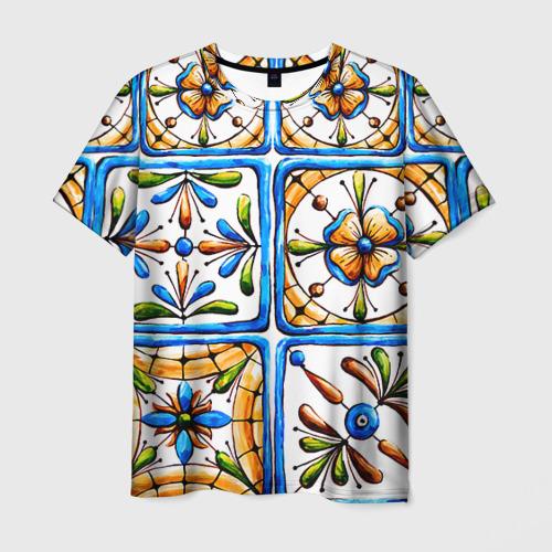 Мужская футболка 3D Майолика 2