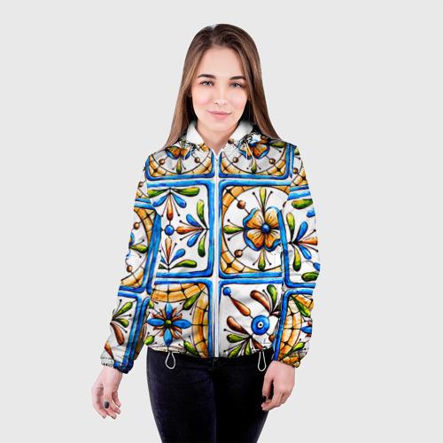 Женская куртка 3D  Фото 03, Майолика 2