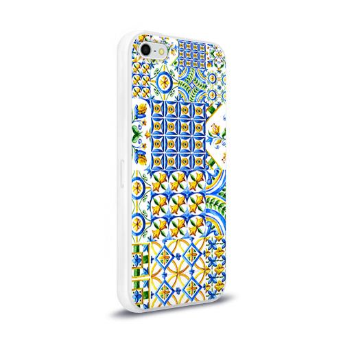 Чехол для Apple iPhone 5/5S силиконовый глянцевый  Фото 02, Майолика 3