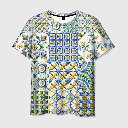 Мужская футболка 3D Майолика 3
