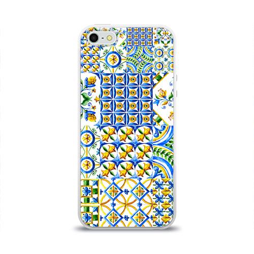 Чехол для Apple iPhone 5/5S силиконовый глянцевый  Фото 01, Майолика 3